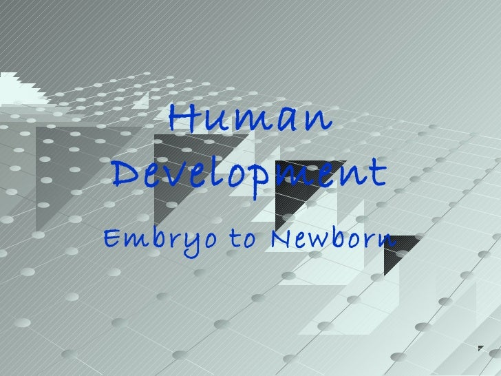 HumanDevelopmentEmbryo to Newborn