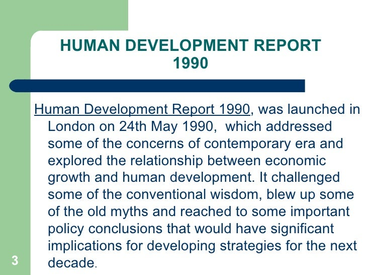 human development report 1990