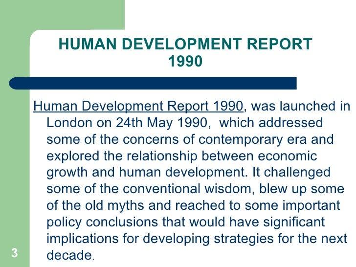 human development report 1990