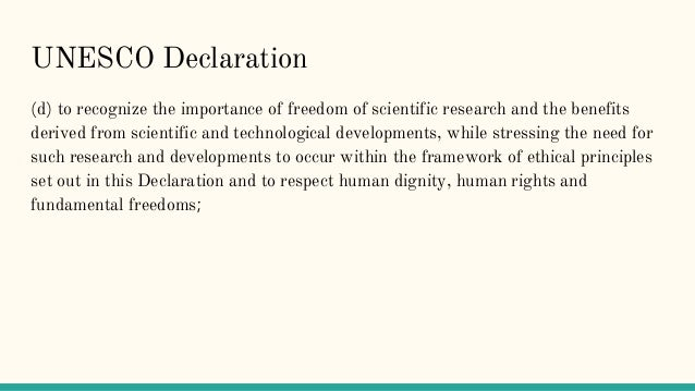 respect for human dignity in research
