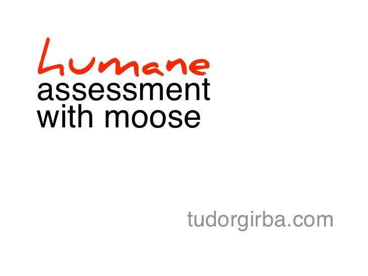 humaneassessmentwith moose        tudorgirba.com