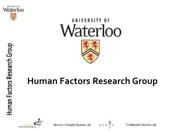Human Factors Research Group<br />