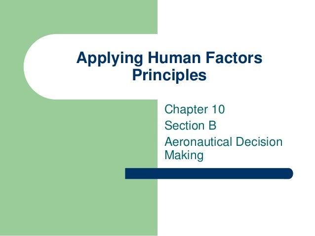 Training programs to improve aeronautical decision making
