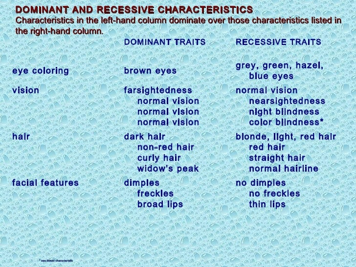 the characteristics and the effects of color blindness Color-blindness is counterproductive  everyone wants to be treated as an individual and recognized for their personal traits and characteristics but the colorblindness that sociologists .