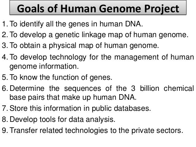 human genome project information The ethical implications of the human genome project  researchers from 120  countries have downloaded information which has been freely.