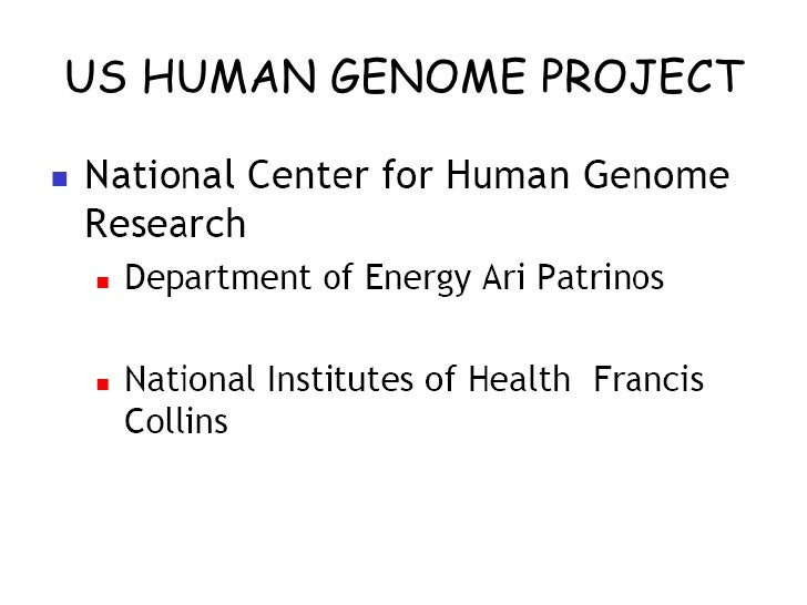 Human Genome Project 1