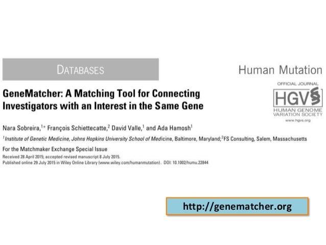 http://genematcher.org