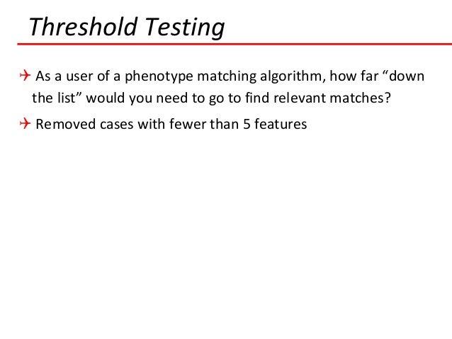 Threshold Testing