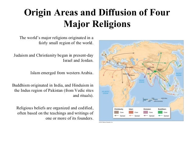 compare the diffusion of buddhism and the diffusion of christianity The diffusion of christianity involves relocation diffusion and the following map displays the hearths and diffusion routes of christianity, islam and buddhism.