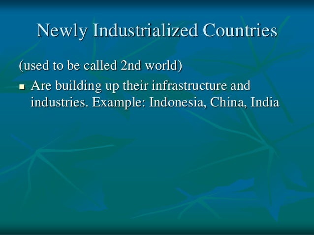 india newly industrialized country
