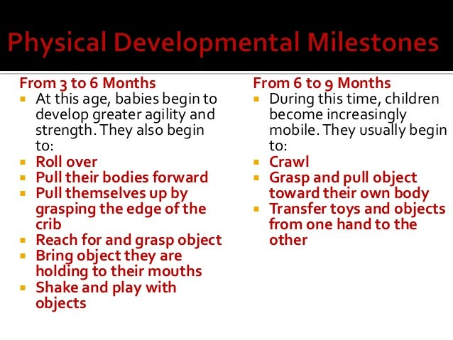expected pattern of development from birth An outline of the expected pattern of physical development for children from birth to 19 years physical development milestones the difference between fine and gross.