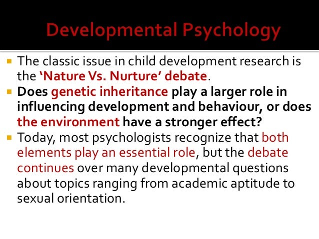 human growth development developmental psychology by theresa lowr  6    the classic issue in child development research
