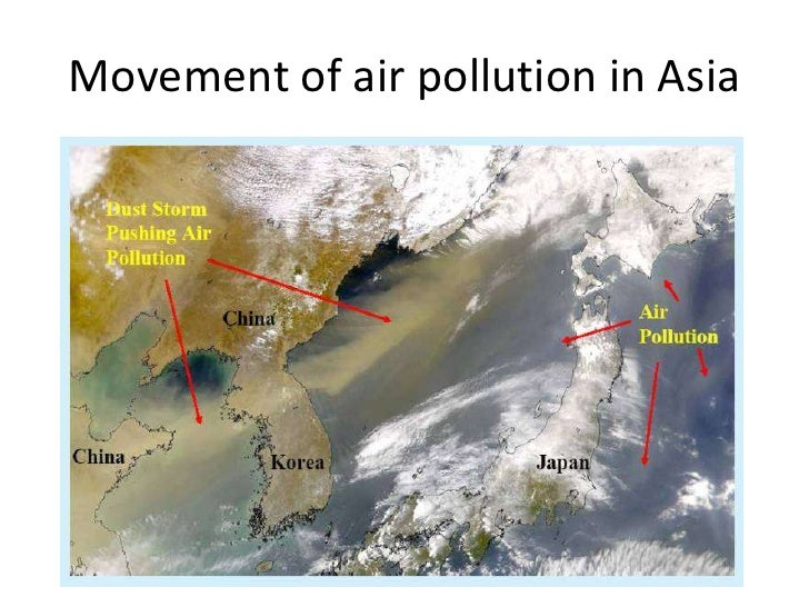 Movement of air pollution in Asia<br />