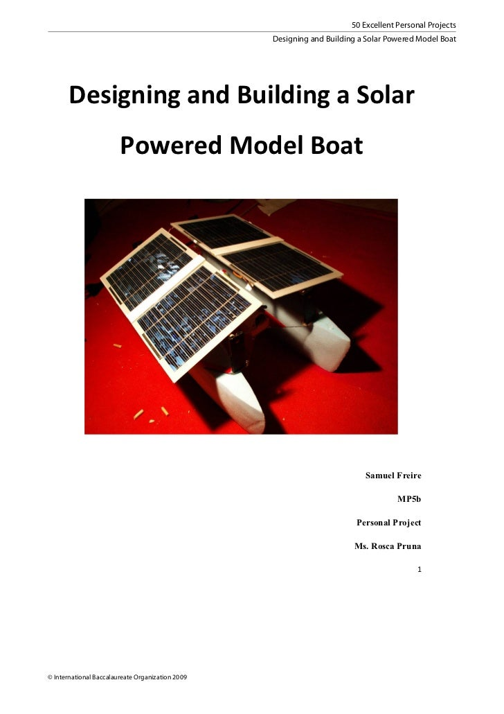 50 Excellent Personal Projects                                                  Designing and Building a Solar Powered Mod...
