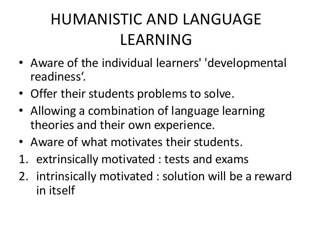 The challenges of humanistic approach