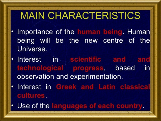 what are the characteristics of humanism