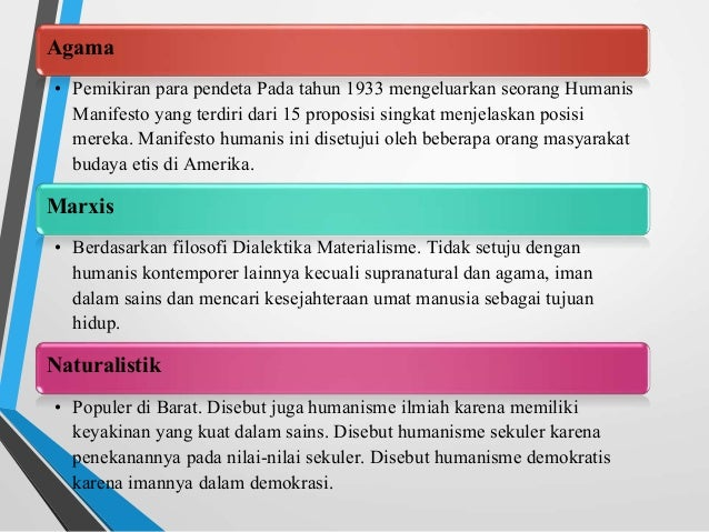 Humanisme ppt