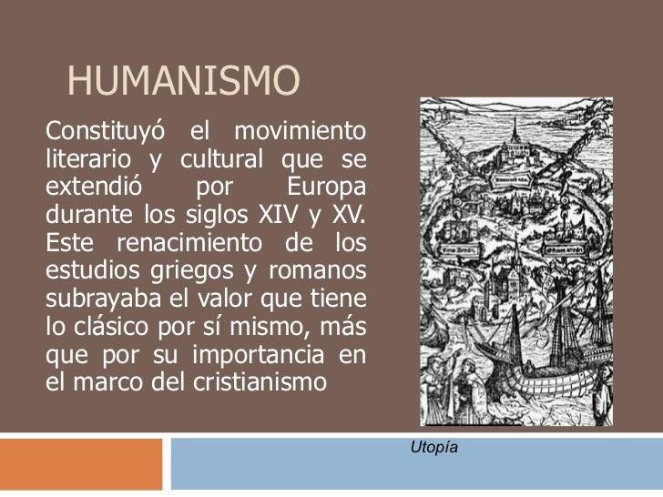 Humanismo y Renacimiento Slide 2