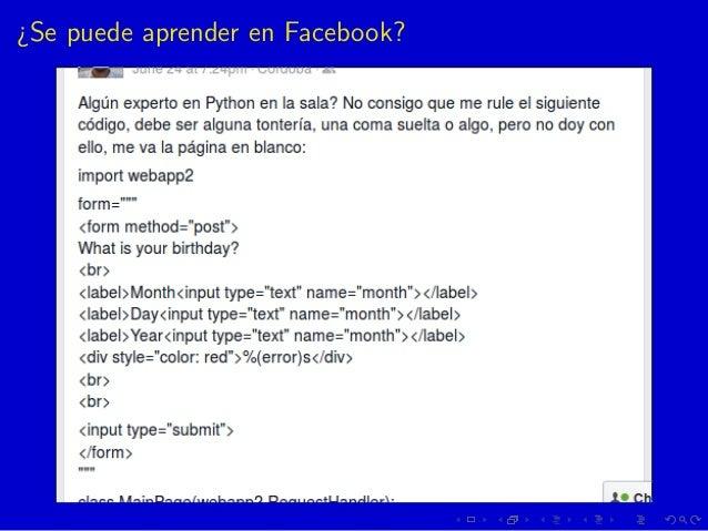 ¿Se puede aprender en Facebook?