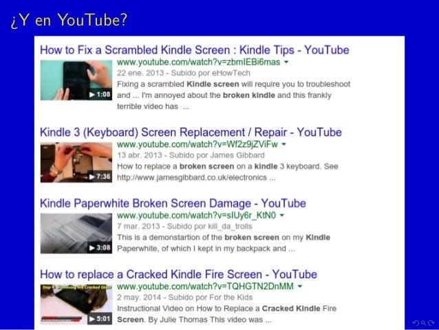 ¿Y en YouTube?