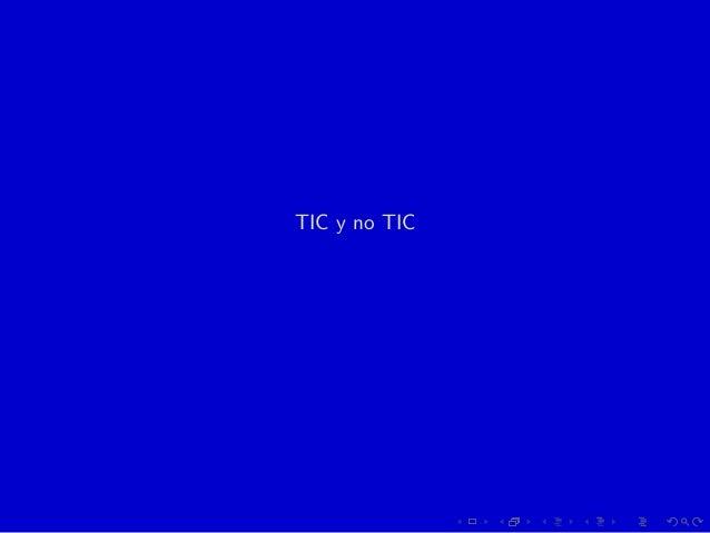 TIC y no TIC