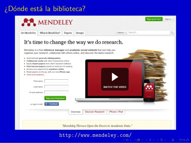 ¿D´onde est´a la biblioteca? http://www.mendeley.com/
