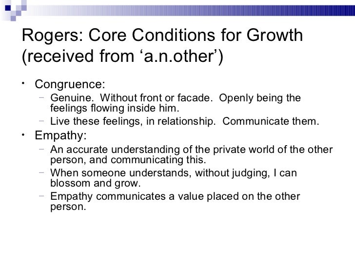 Conditions of worth carl rogers