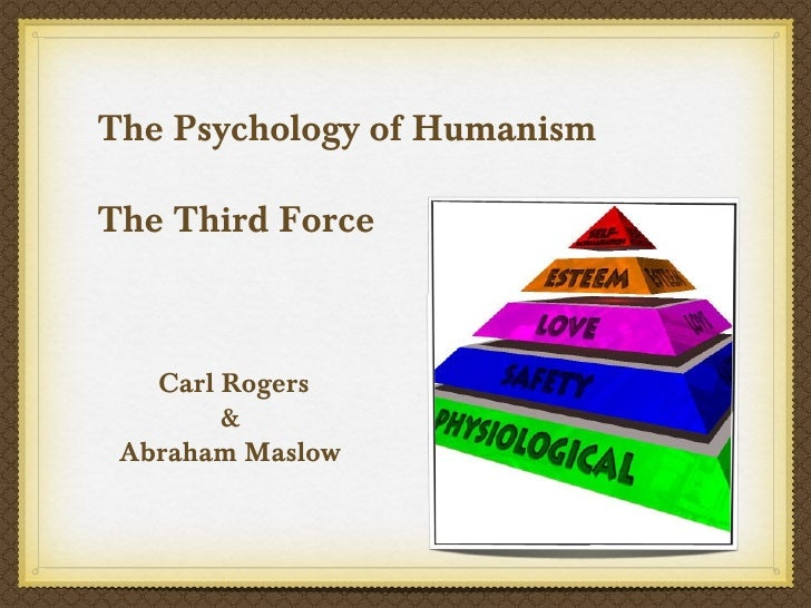 The Psychology of HumanismThe Third Force   Carl Rogers        & Abraham Maslow
