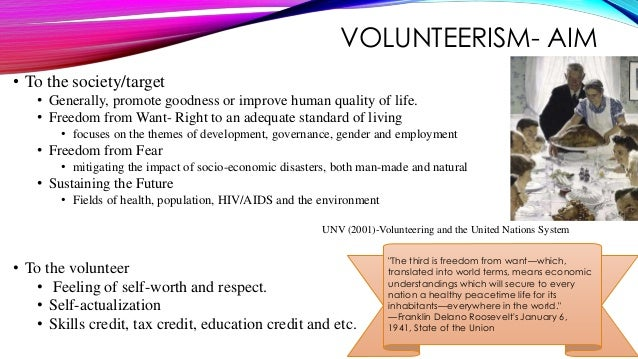 paid volunteerism Un paid volunteers are between 18 and 55 years old, and work with un agencies on the front lines of political, developmental and humanitarian operations who are un volunteers un volunteers are a separate category of un volunteers recently created in response to the united nations secretary-general's call for greater engagement in volunteerism of history's largest generation of people.
