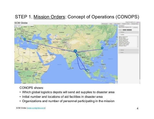 SCM Globe (www.scmglobe.com) 4 STEP 1. Mission Orders: Concept of Operations (CONOPS) CONOPS shows: • Which global logisti...