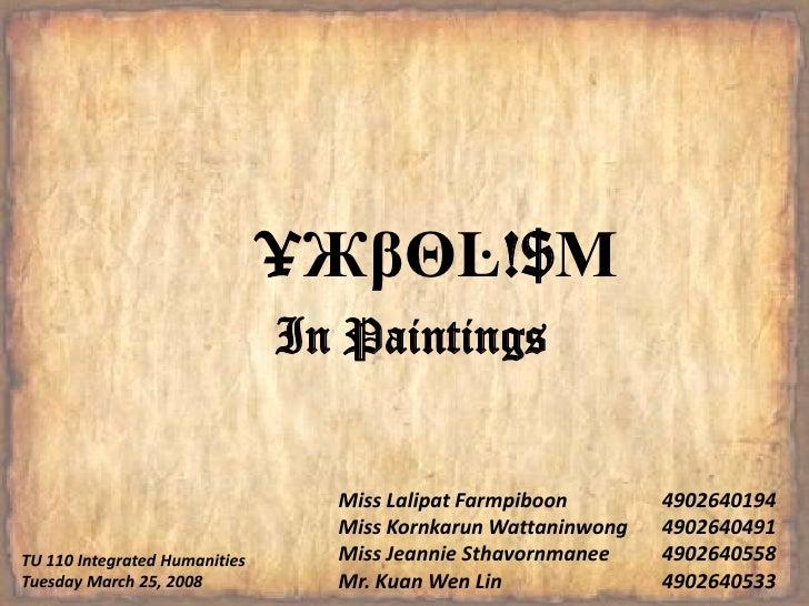 §¥ЖβΘĿ!$ΜIn Paintings<br />Miss LalipatFarmpiboon4902640194 <br />Miss KornkarunWattaninwong4902640491 <br />Miss Jeann...