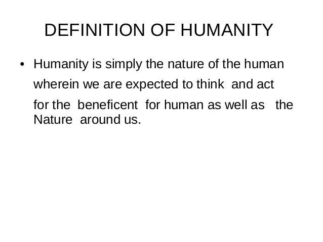 what becomes humanity