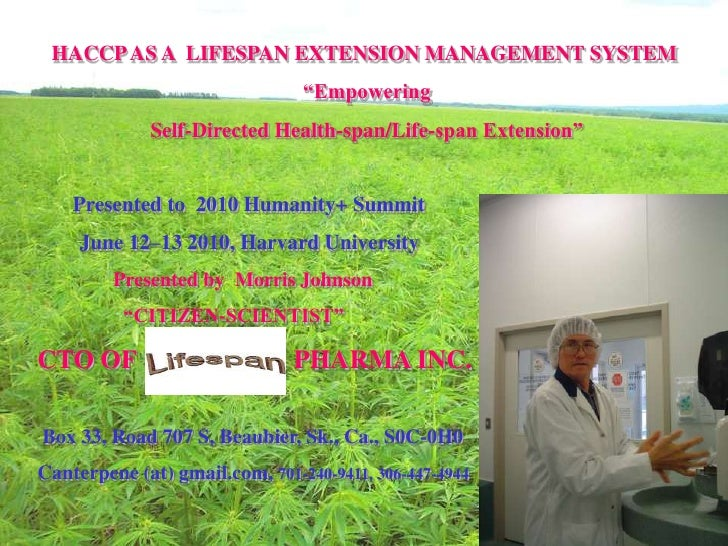"HACCP AS A LIFESPAN EXTENSION MANAGEMENT SYSTEM                                 ""Empowering              Self-Directed Hea..."