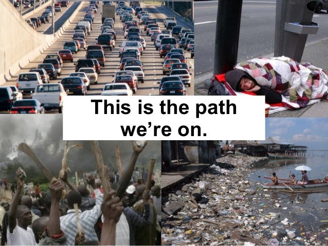 This is the path we're on.
