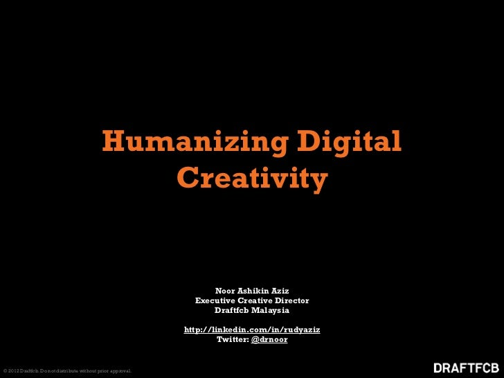 Humanizing Digital                                               Creativity                                               ...