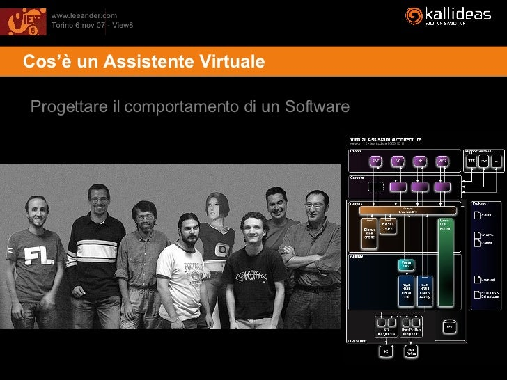 <ul><li>Cos'è un Assistente Virtuale </li></ul>Progettare il comportamento di un Software
