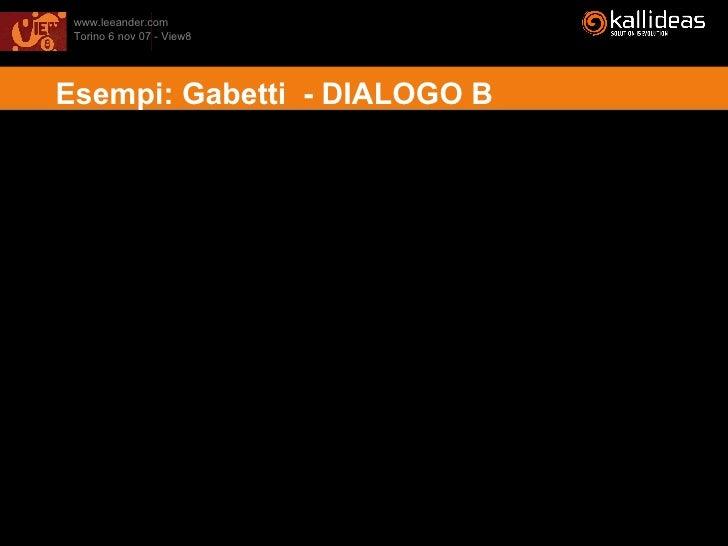 Esempi: Gabetti  - DIALOGO B