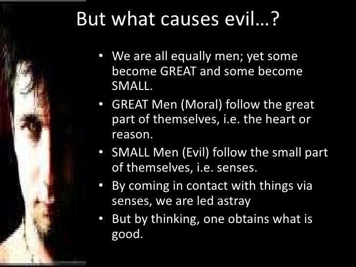 The inborn evil of mankind