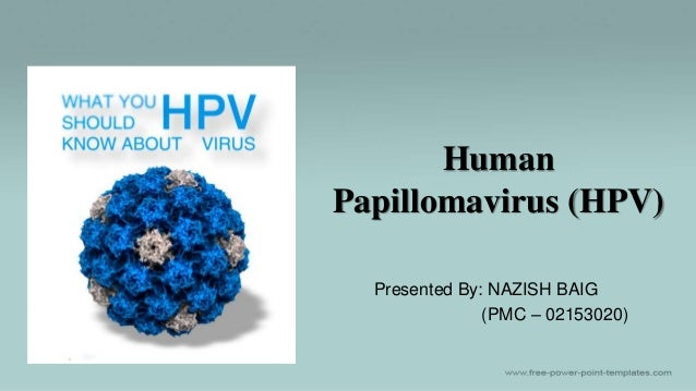 Human Papillomavirus (HPV) Presented By: NAZISH BAIG (PMC – 02153020)