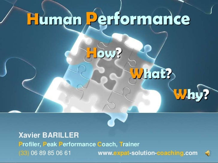 Human Performance                     How?                                    What?                                       ...