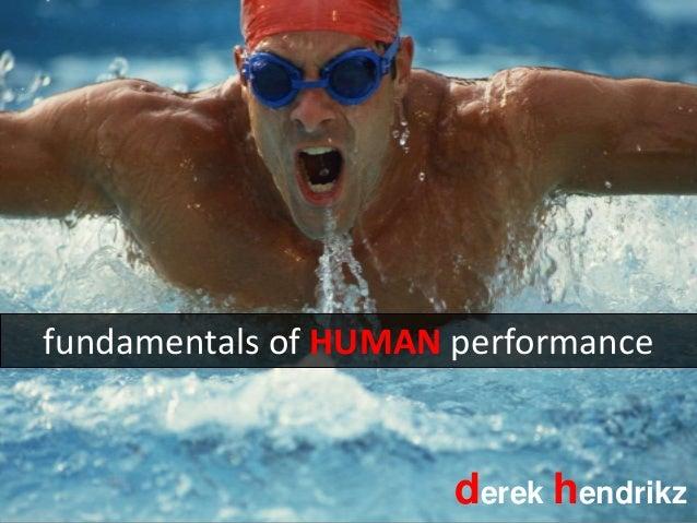 fundamentals of HUMAN performance derek hendrikz