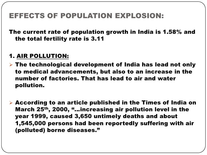 Effects of overpopulation essay