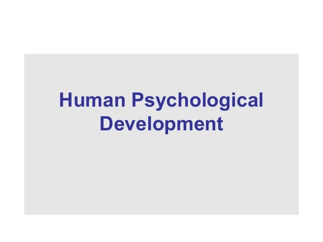 Human Psychological Development