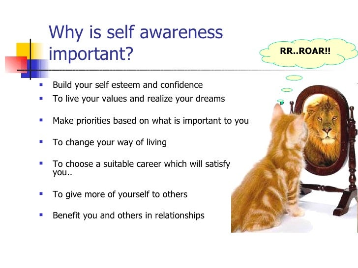 self awareness in the workplace For some, the workplace is a stressful environment this page demonstrates how to use thought awareness and rational thinking to build confidence in the office.