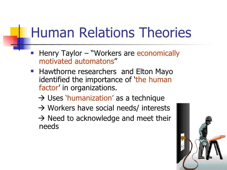 advantages and disadvantages of human relations theory pdf
