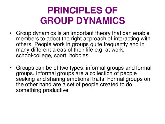 group interaction In group work, these interactions may have consequences for group dynamics in  that orienting to a mobile phone can display a shift in an individual's attention to.