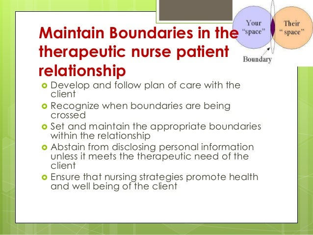 nurse client relationship boundaries lesson