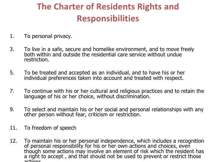 Nursing home residents' rights