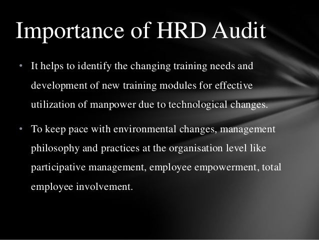 • It helps to identify the changing training needs and development of new training modules for effective utilization of ma...