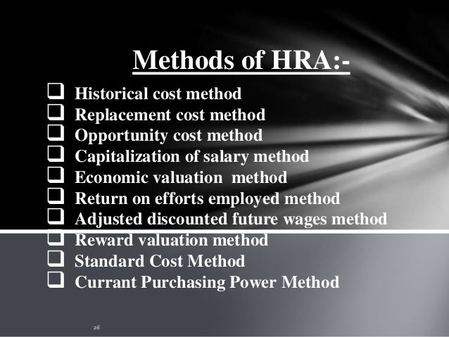 1)Historical cost method:- This method developed by Brummet, Flamholtz and Pyle. According to this method, the actual cost...